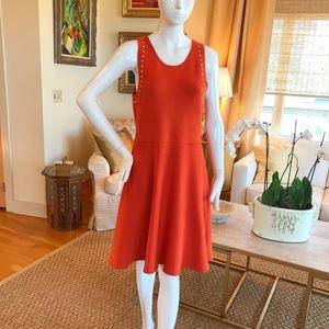 Michael Kors Studded Sleaveless Cocktail Dress